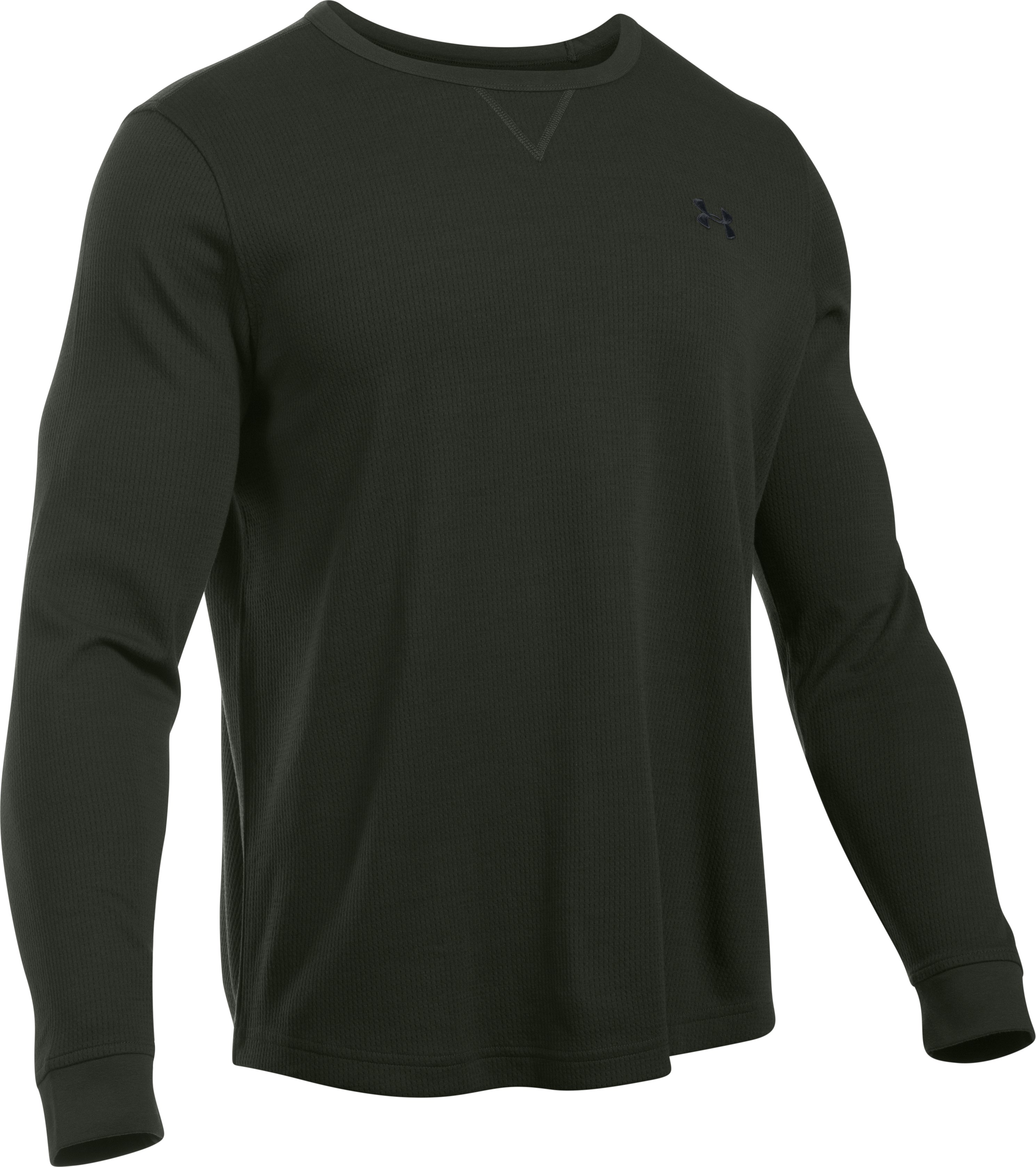Men's UA Waffle Crew, Artillery Green, undefined