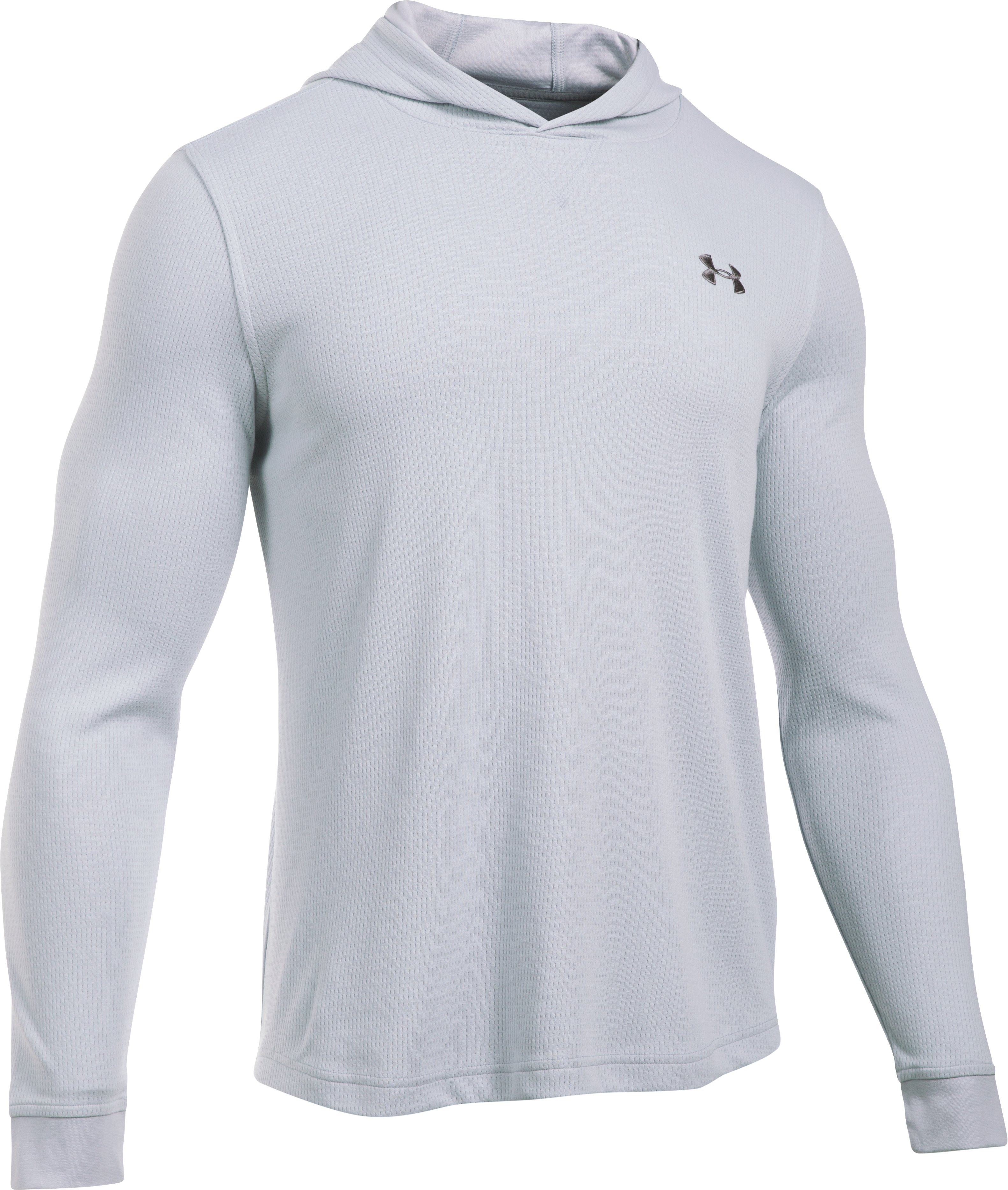 Men's UA Waffle Hoodie, AIR FORCE GRAY HEATHER, undefined