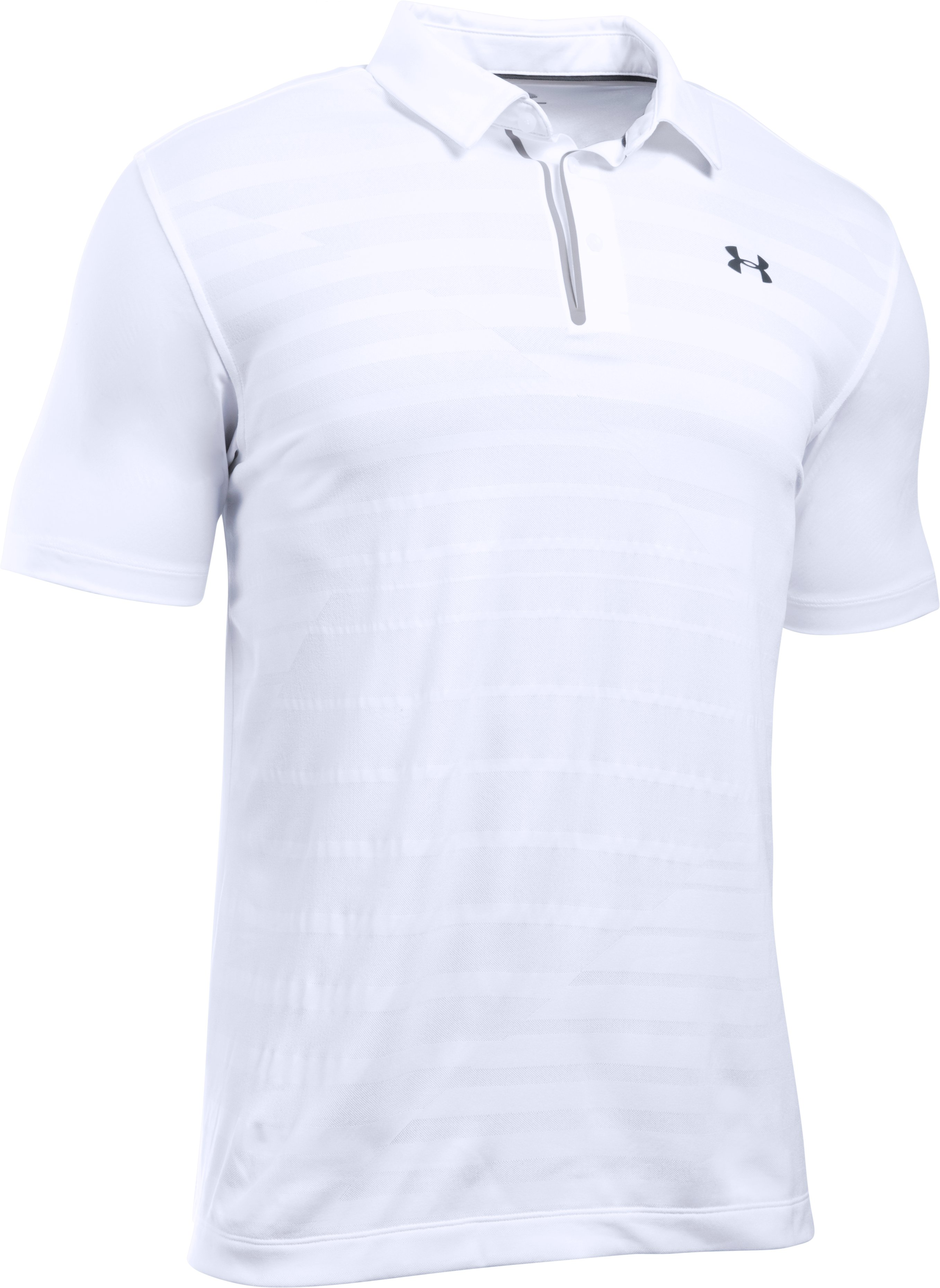Men's UA CoolSwitch Jacquard Polo, White, undefined