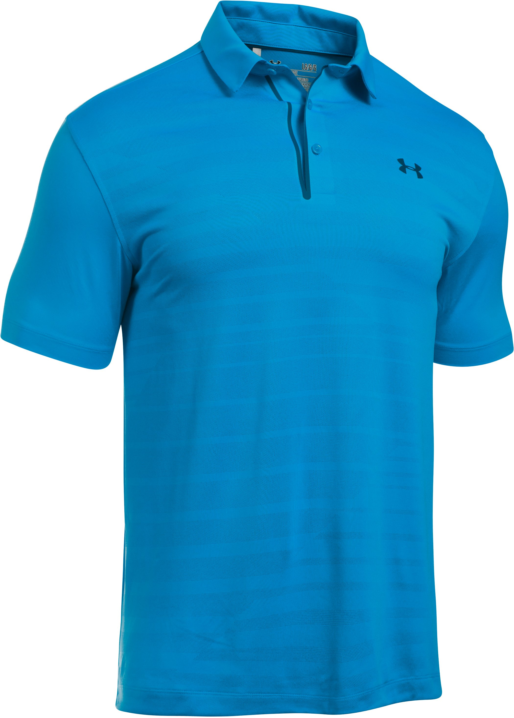 Men's UA CoolSwitch Jacquard Polo, BRILLIANT BLUE, undefined