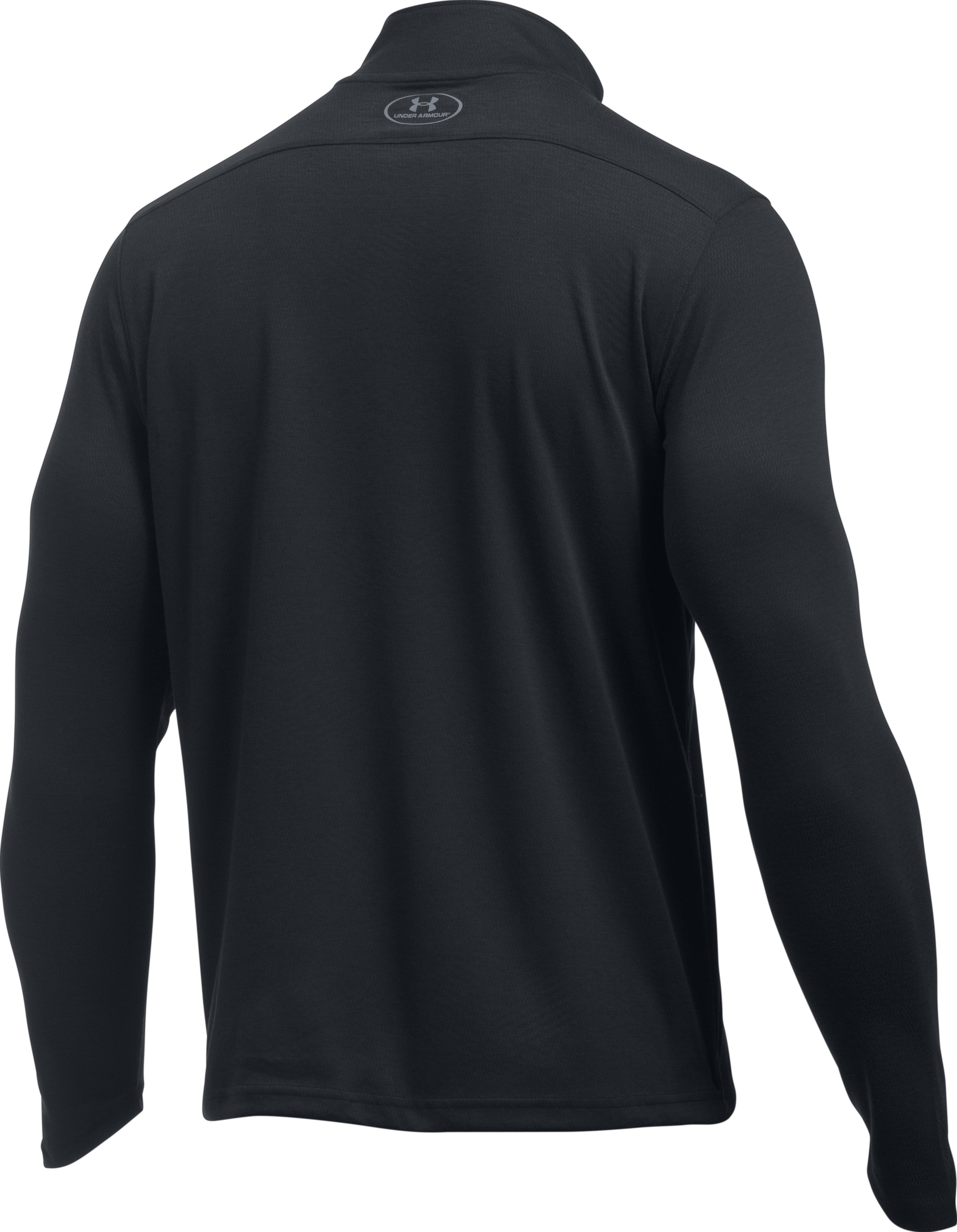 Men's UA ColdGear® Infrared Lightweight ¼ Zip, Black ,