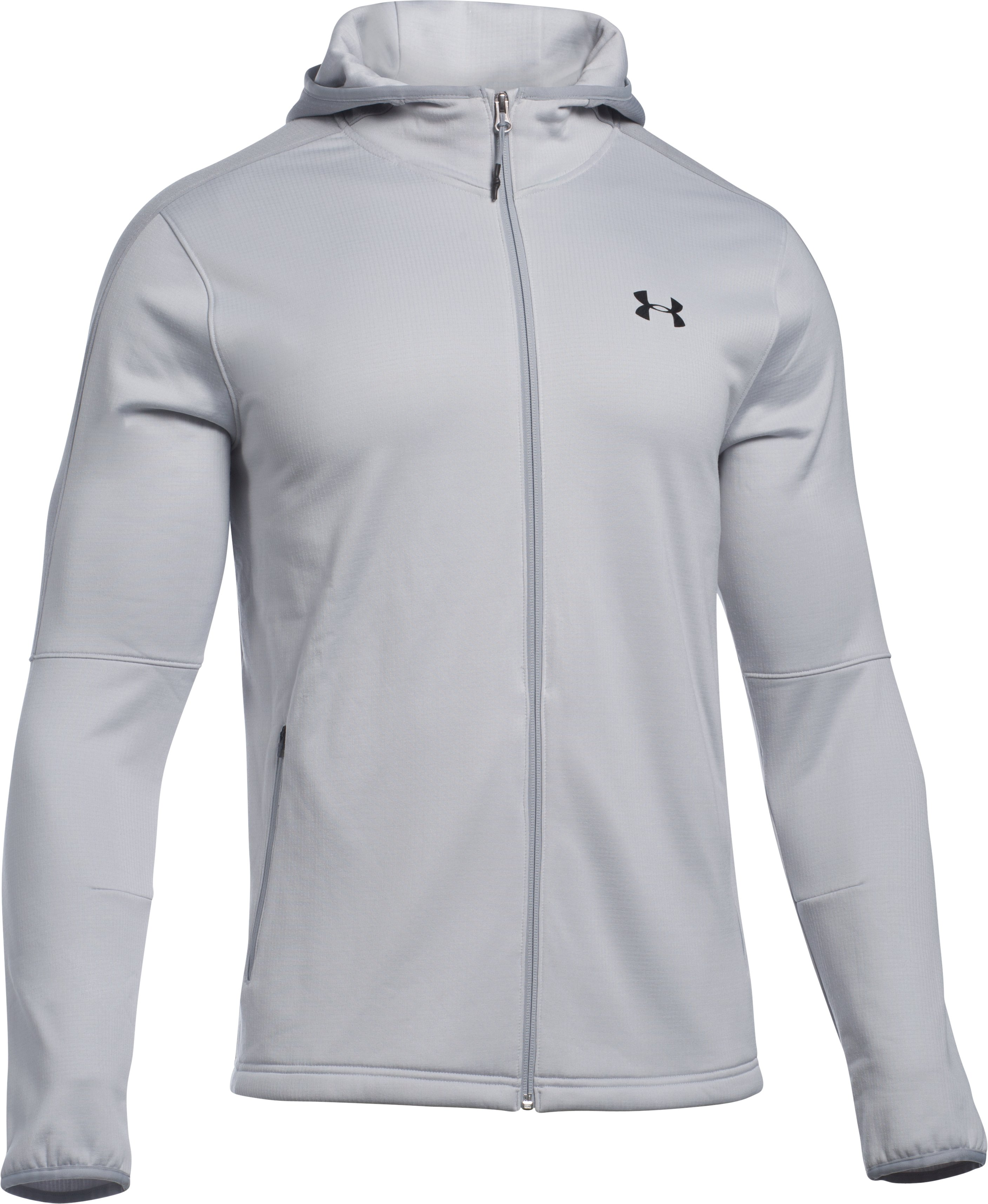 Men's UA Scope Fleece Hoodie, GLACIER GRAY