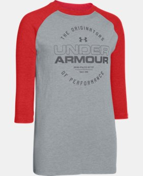 Boys' UA Link ¾ Sleeve Tee  1 Color $20.99