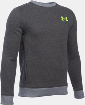 Boys' UA Sportstyle Fleece Crew LIMITED TIME: FREE U.S. SHIPPING  $39.99