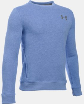 Boys' UA Sportstyle Fleece Crew LIMITED TIME: FREE U.S. SHIPPING  $29.99