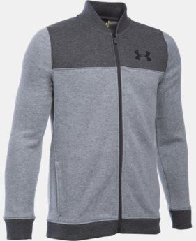 New Arrival  Boys' UA Titan Fleece Bomber  LIMITED TIME: FREE SHIPPING  $69.99