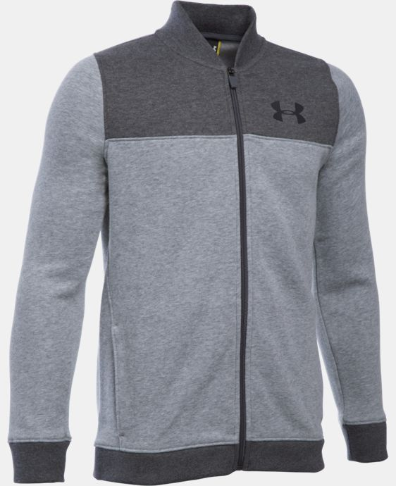 New Arrival  Boys' UA Titan Fleece Bomber  LIMITED TIME: FREE SHIPPING 1 Color $69.99