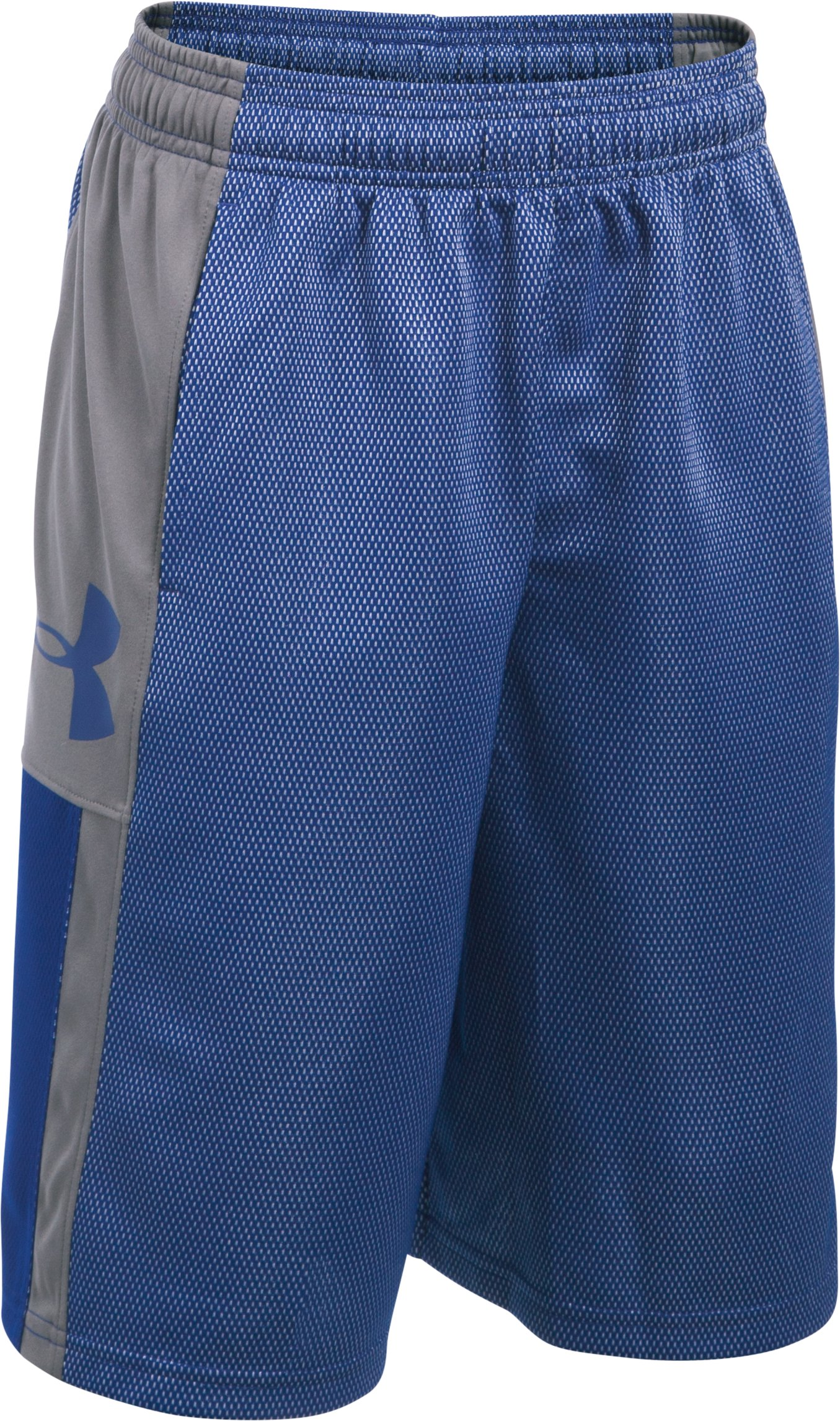 Boys' UA Jab Step Shorts, Caspian, zoomed image