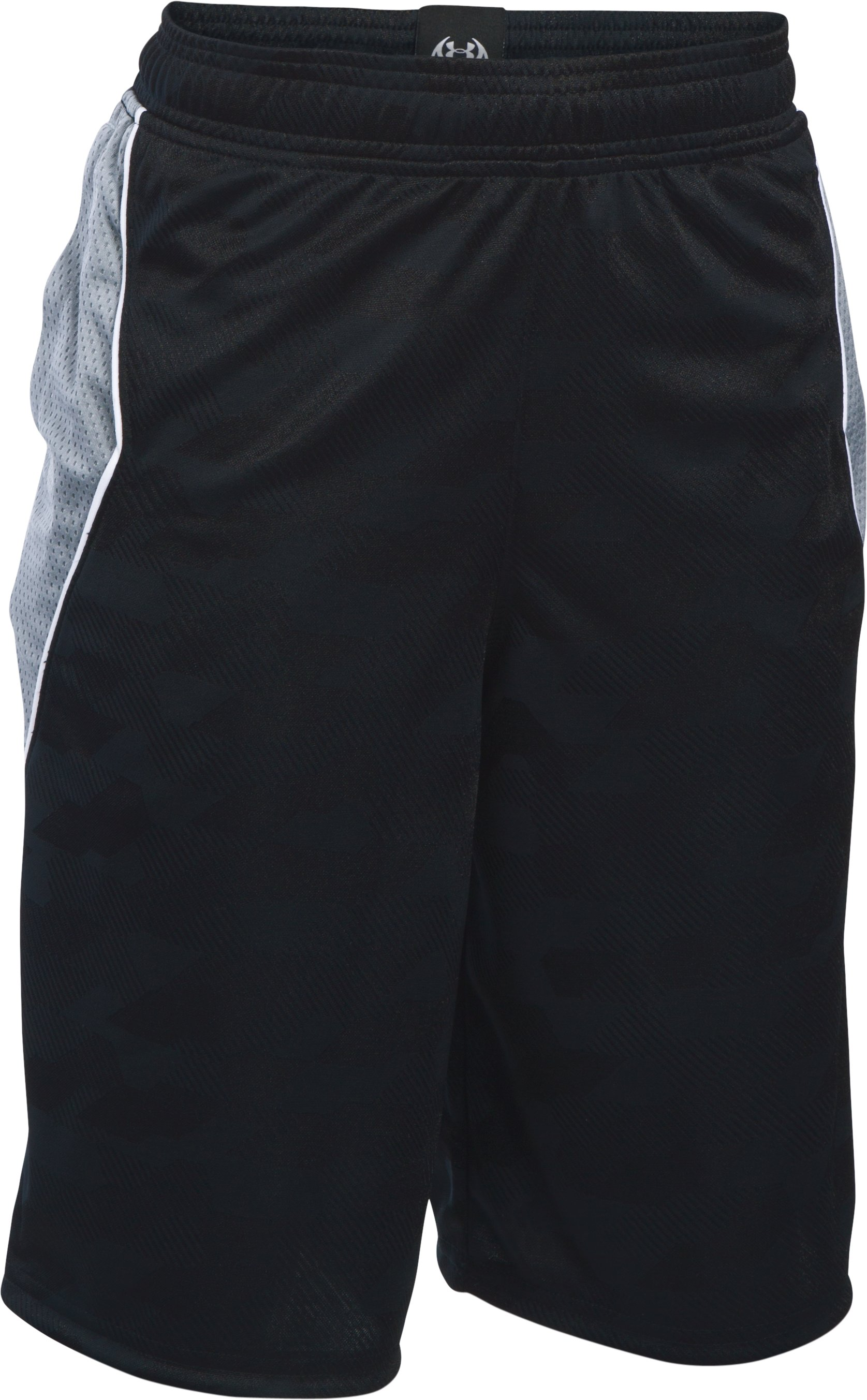 Boys' SC30 Essentials Printed Shorts, Black , undefined