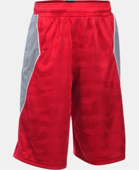 Boys' SC30 Essentials Printed Shorts  1 Color $23.99