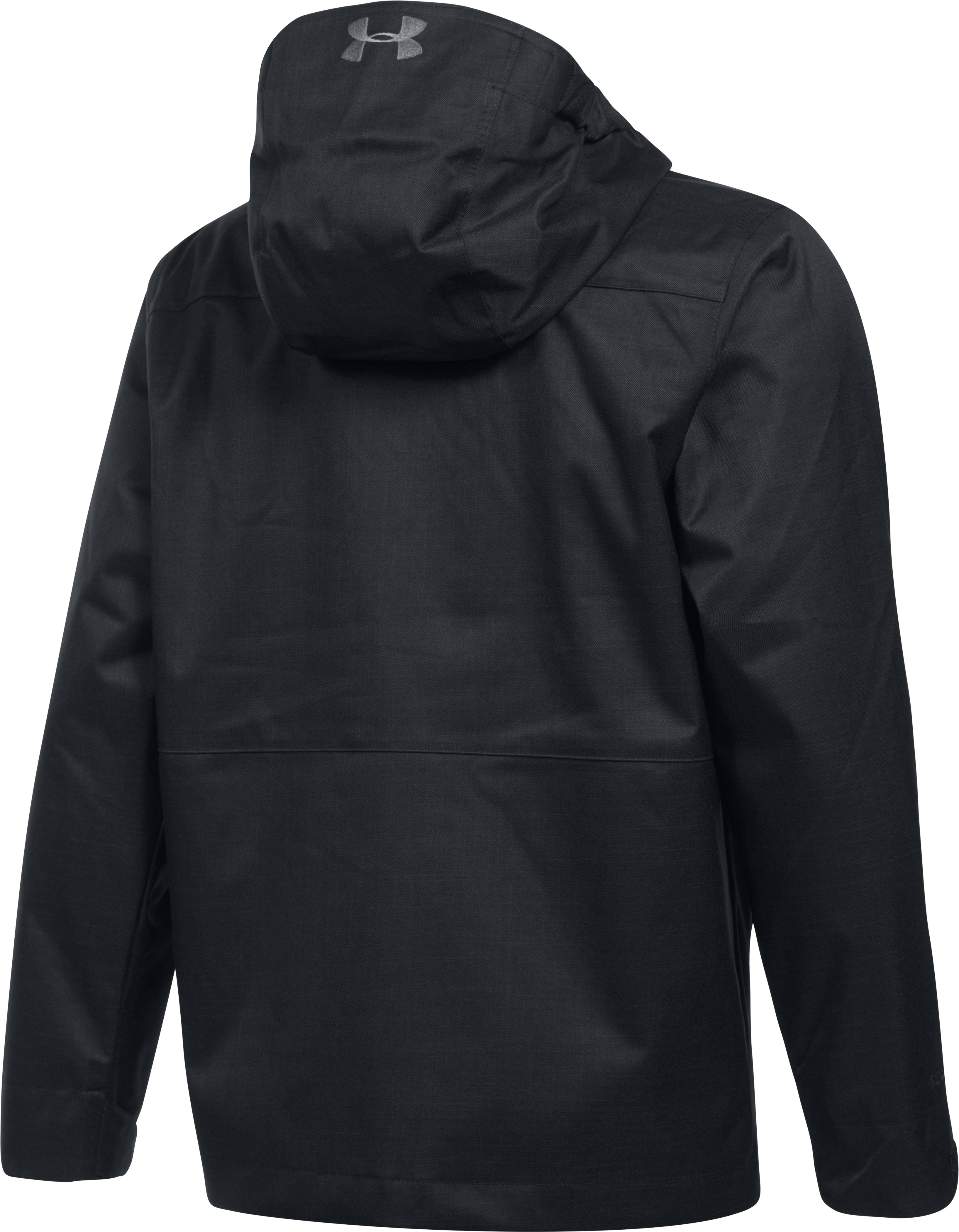 Boys' UA Storm Wildwood 3-in-1 Jacket, Black ,