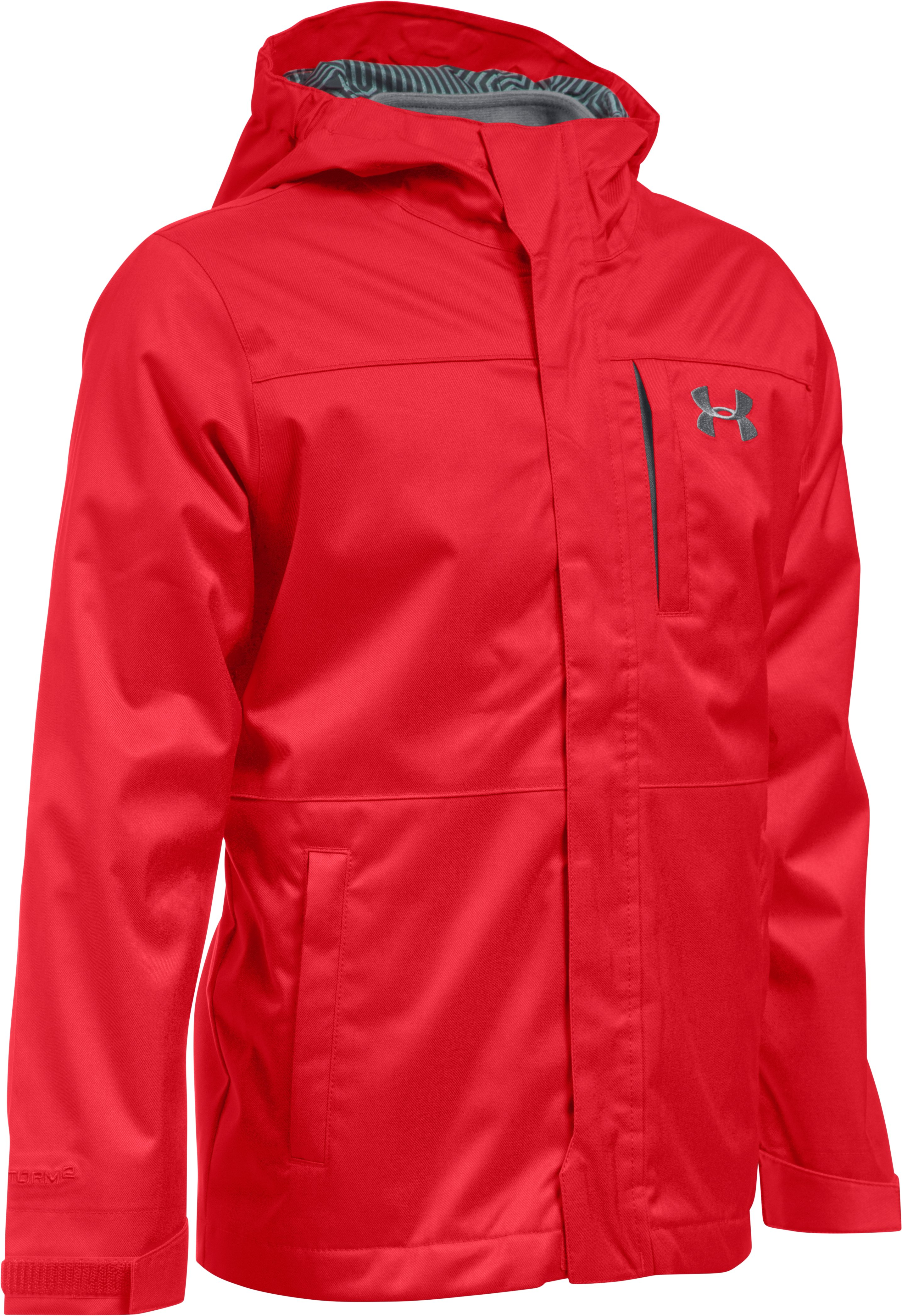 Boys' UA Storm Wildwood 3-in-1 Jacket, Red, undefined