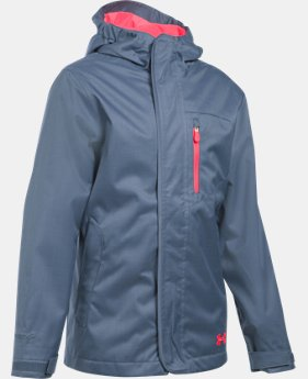 New Arrival  Girls' UA ColdGear® Infrared Gemma 3-in-1 Jacket LIMITED TIME: FREE SHIPPING 2 Colors $159.99