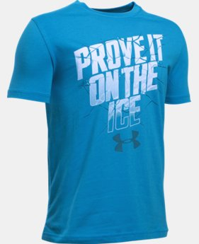 Best Seller Boys' UA Prove It On The Ice T-Shirt  LIMITED TIME: FREE SHIPPING 1 Color $19.99