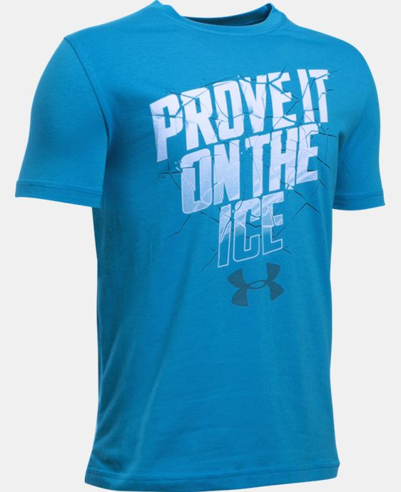 New Arrival  Boys' UA Prove It On The Ice T-Shirt   2 Colors $22.99