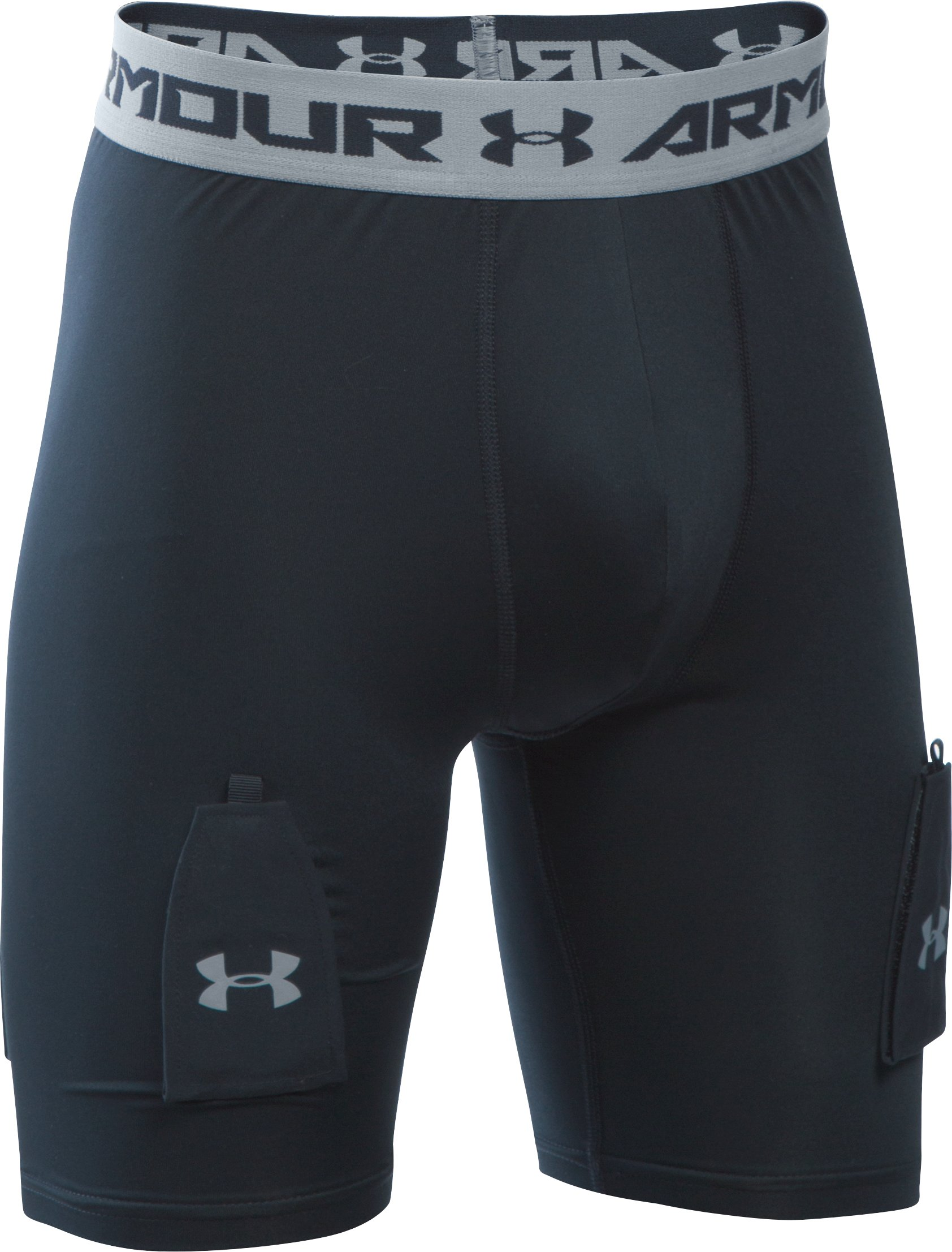 Boys' UA Purestrike Shorts w/ Cup, Black , undefined