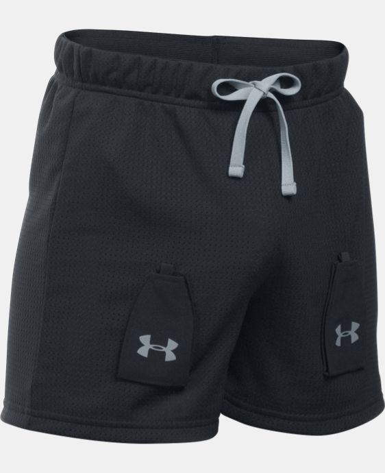 New Arrival  Boys' UA Hockey Mesh Shorts w/ Cup Pocket LIMITED TIME: FREE SHIPPING 1 Color $39.99