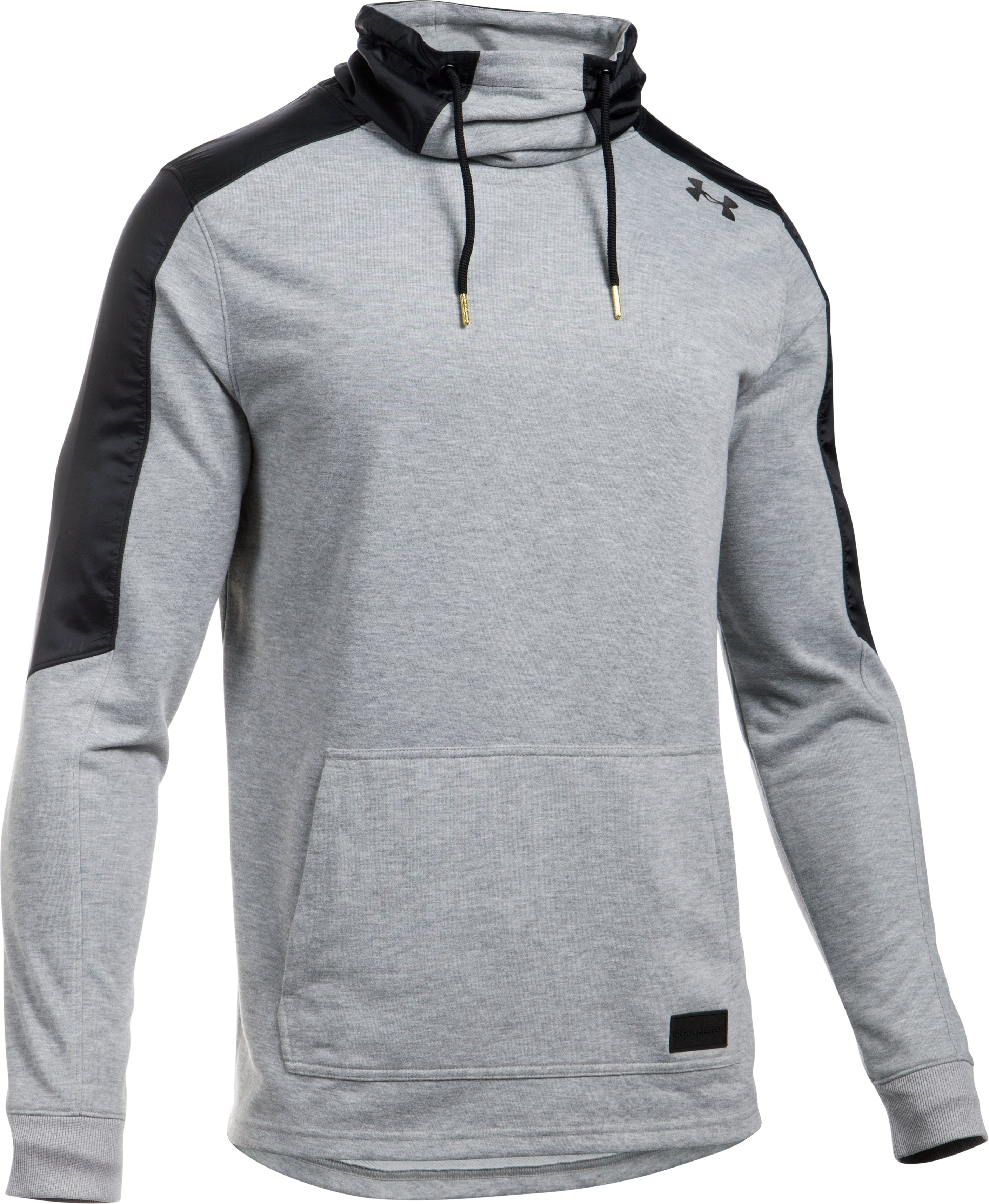 Men's UA Pursuit Funnel Neck, True Gray Heather, undefined
