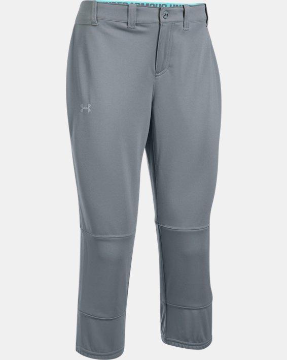 Women's UA Strike Zone Pants, Gray, pdpMainDesktop image number 3