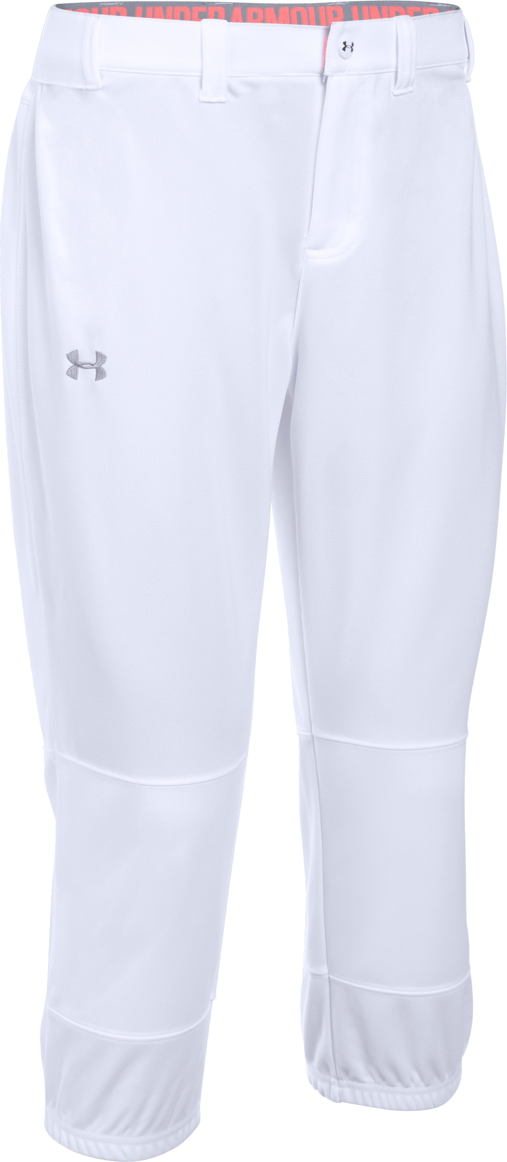 Women's UA Strike Zone Pant, White, zoomed image