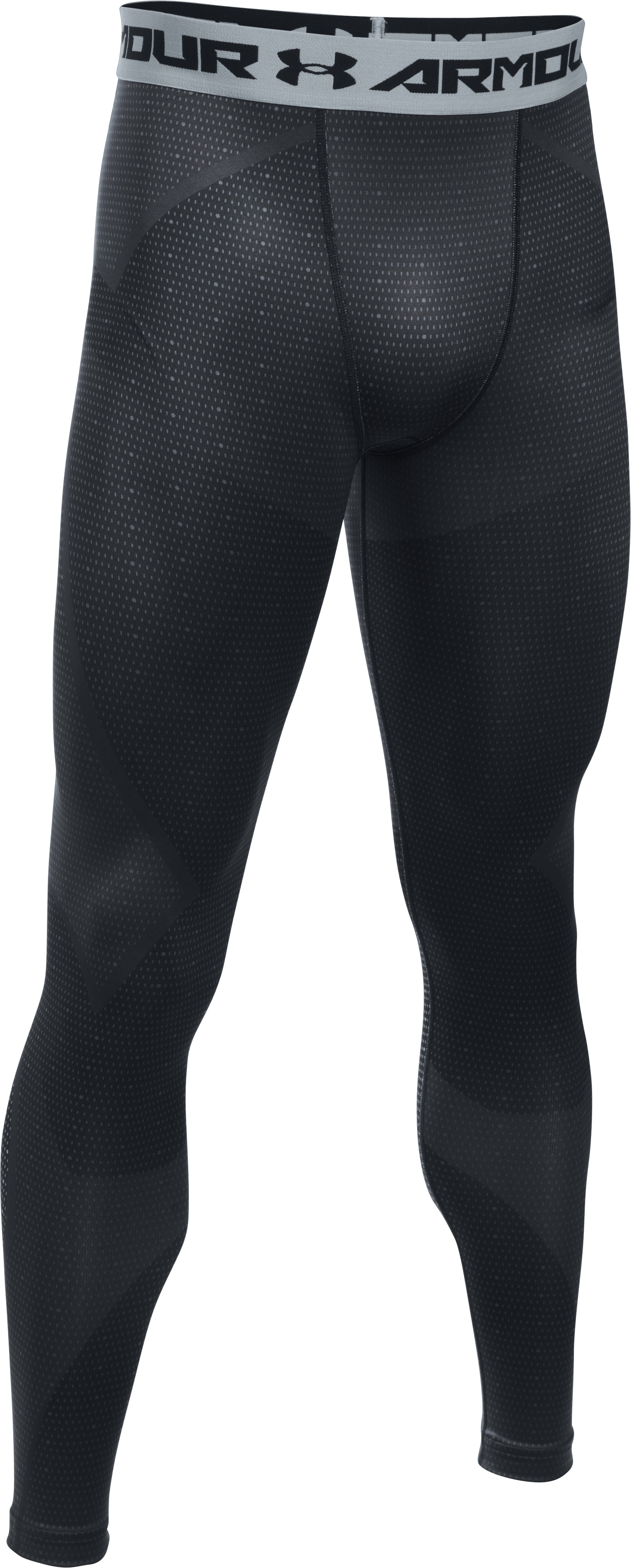 Men's ColdGear® Armour Sublimated Leggings, Black , undefined
