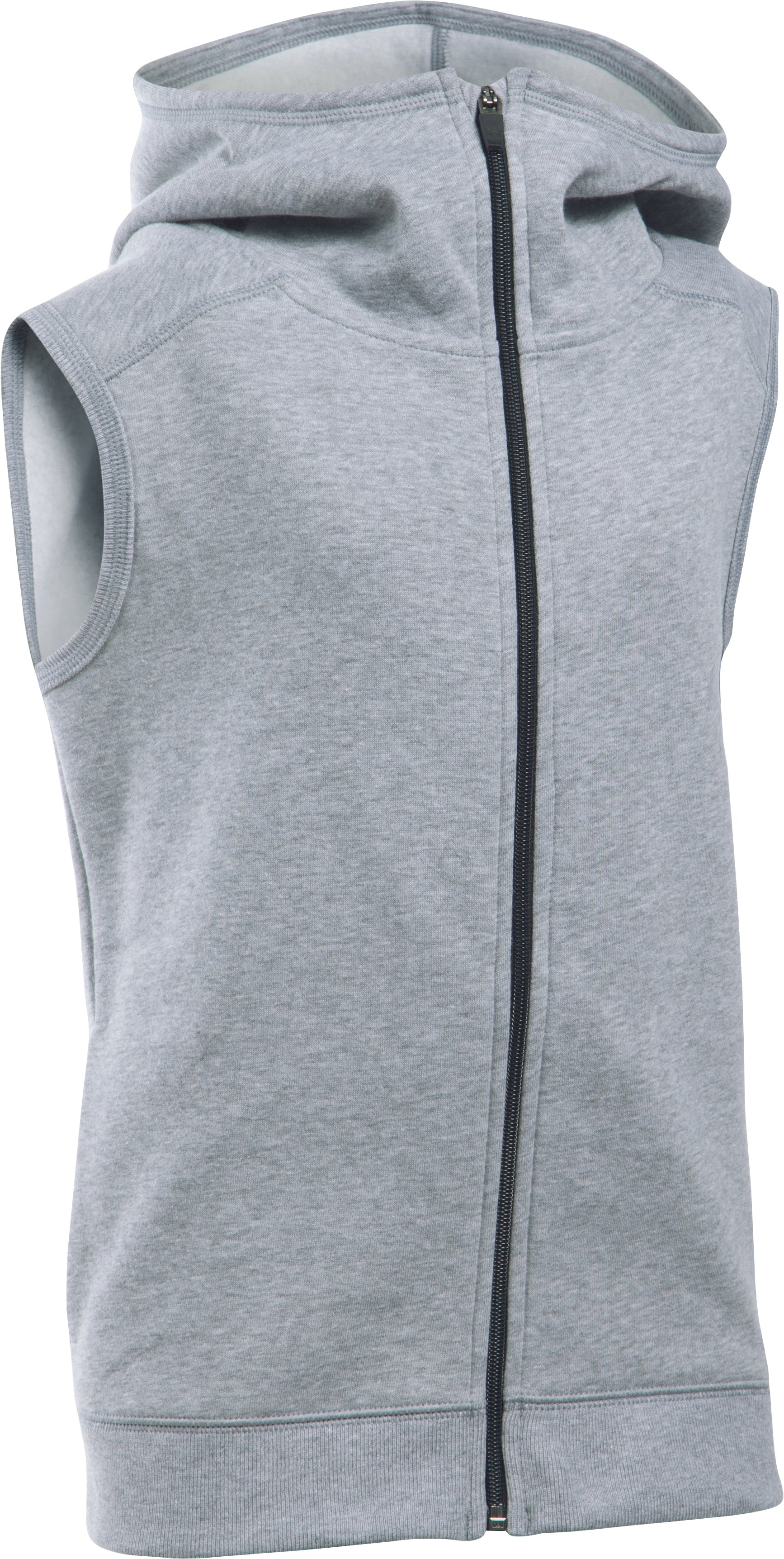 Girls' UA Favorite Fleece Vest, True Gray Heather