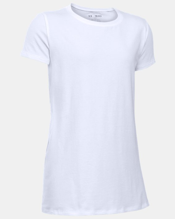 Girls' UA Charged Cotton® T-Shirt, White, pdpMainDesktop image number 0