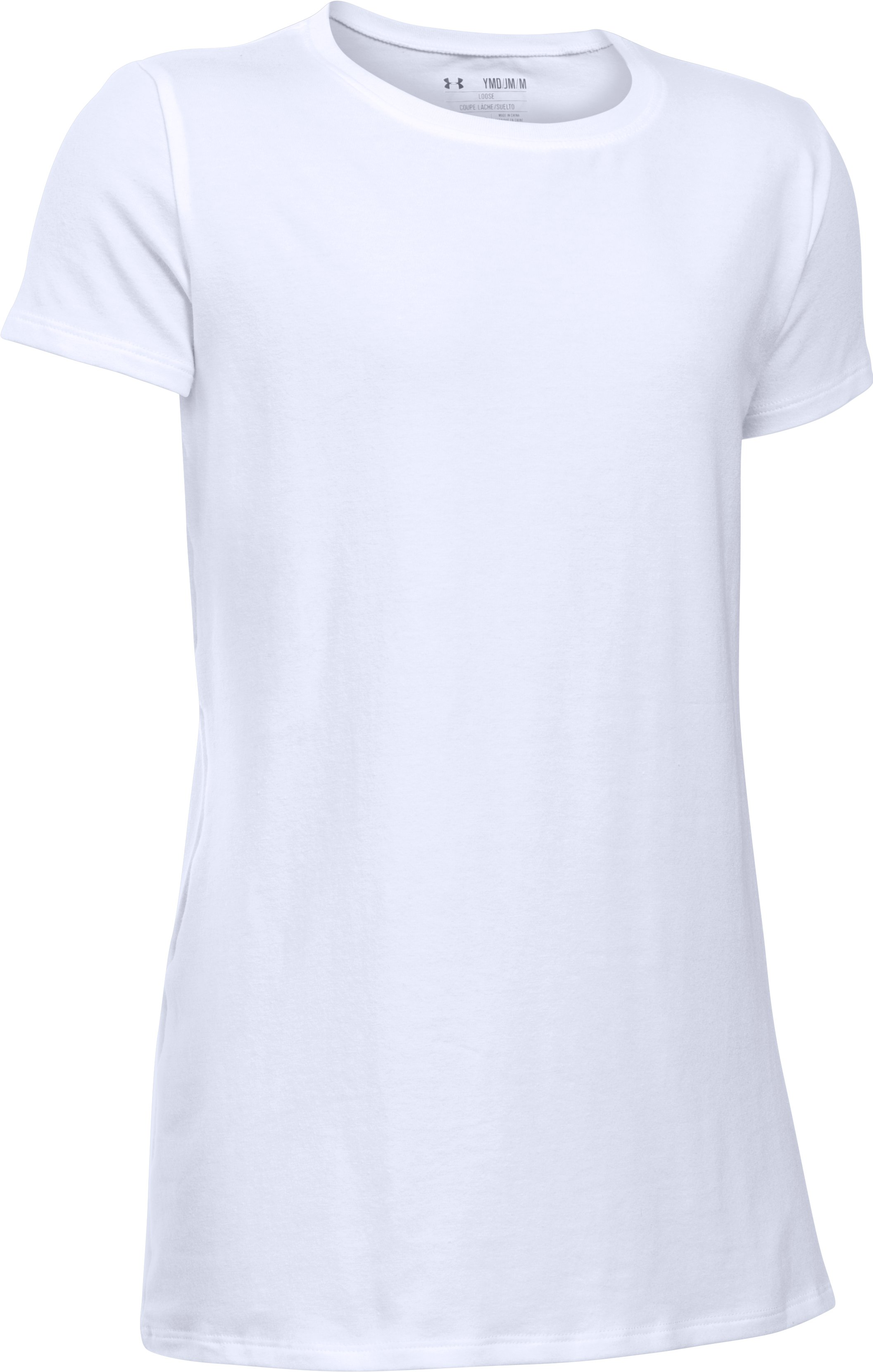 Girls' UA Charged Cotton® T-Shirt, White,