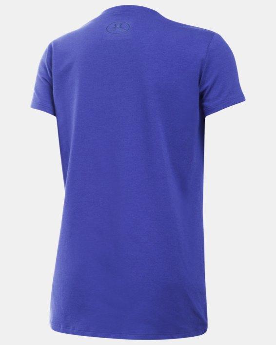 Girls' UA Charged Cotton® T-Shirt, Purple, pdpMainDesktop image number 1