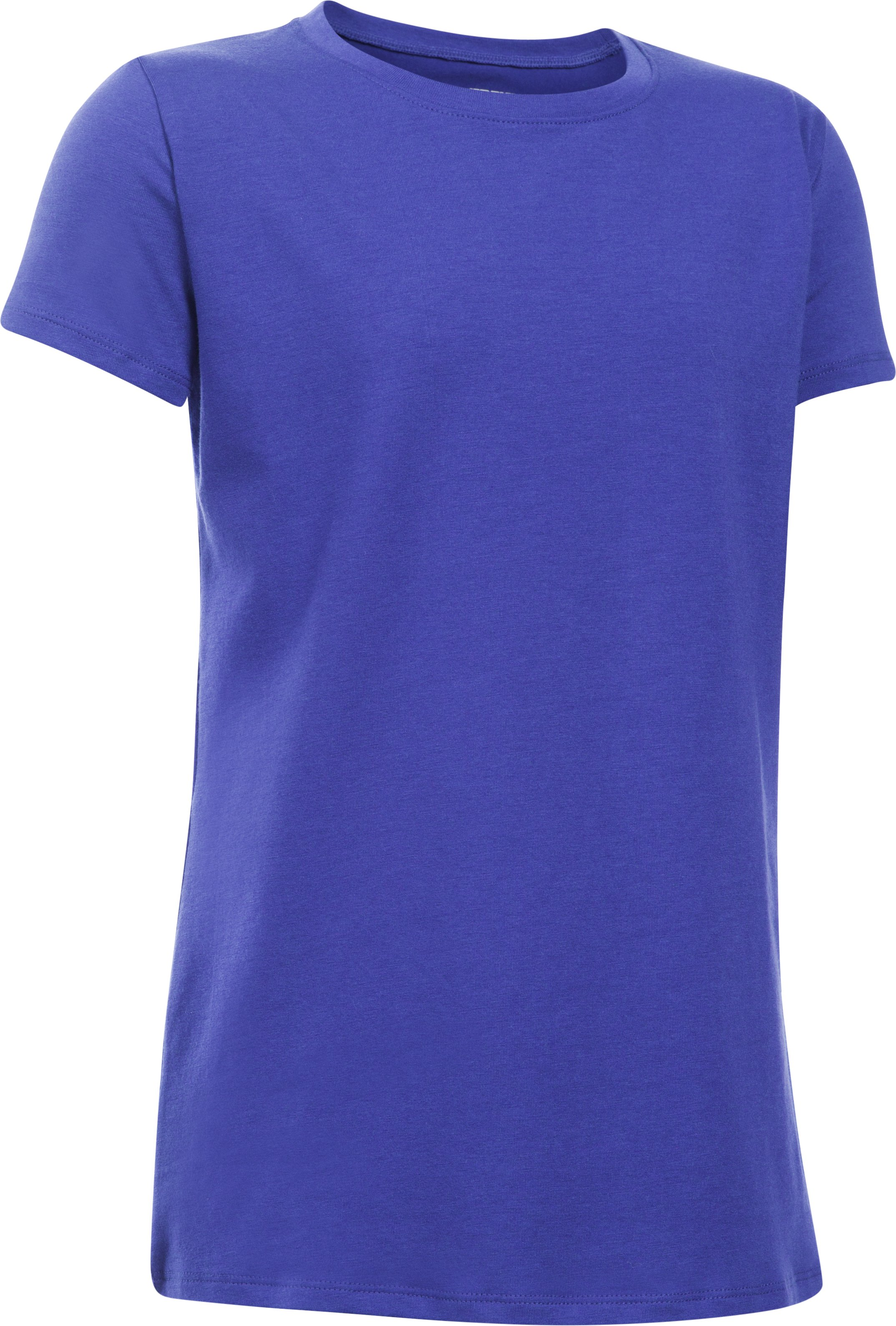 Girls' UA Charged Cotton® T-Shirt, CONSTELLATION PURPLE