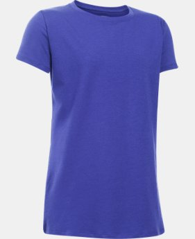 Girls' UA Charged Cotton® T-Shirt  1 Color $19.99