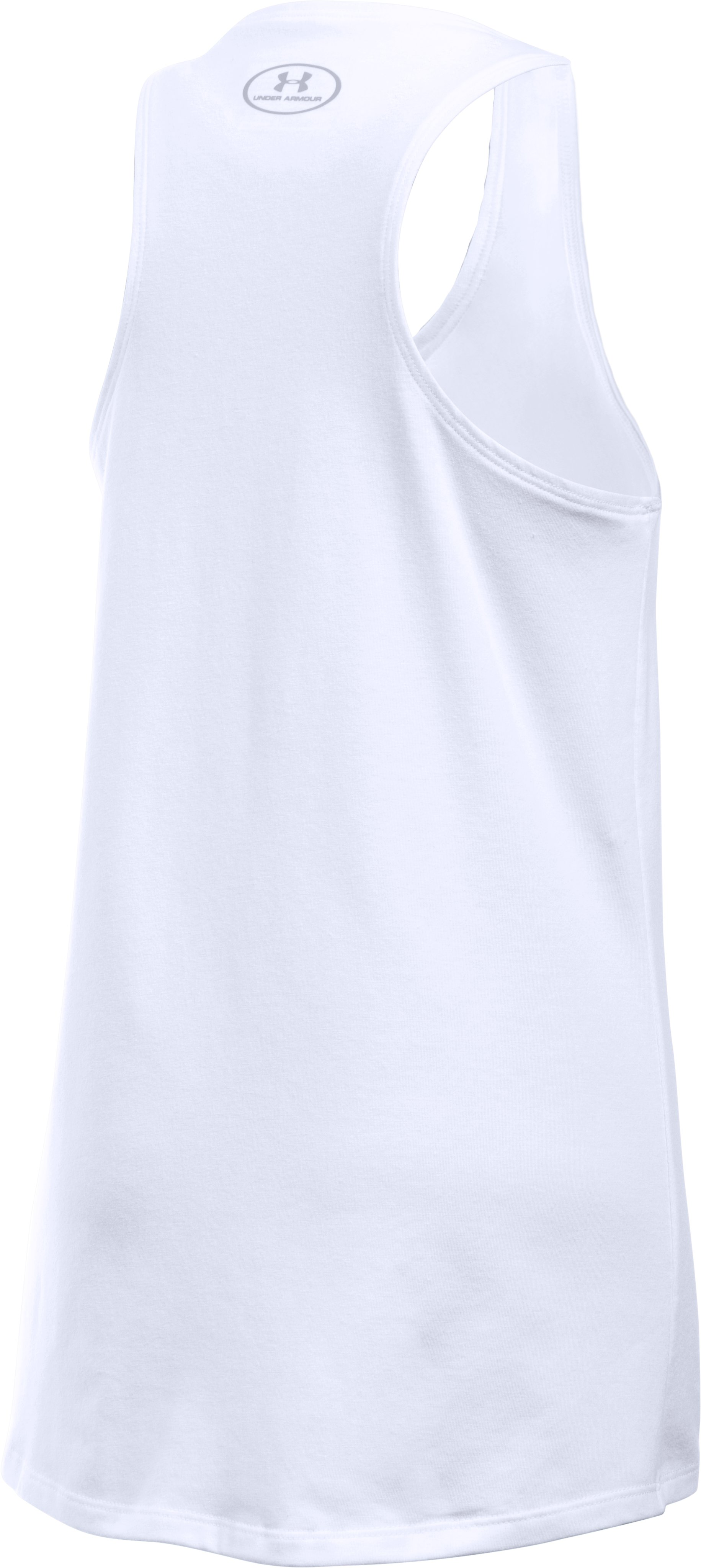 Girls' UA Charged Cotton® Tank, White, undefined