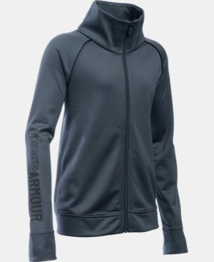 Girls' UA Rival Full Zip Jacket  1 Color $26.99