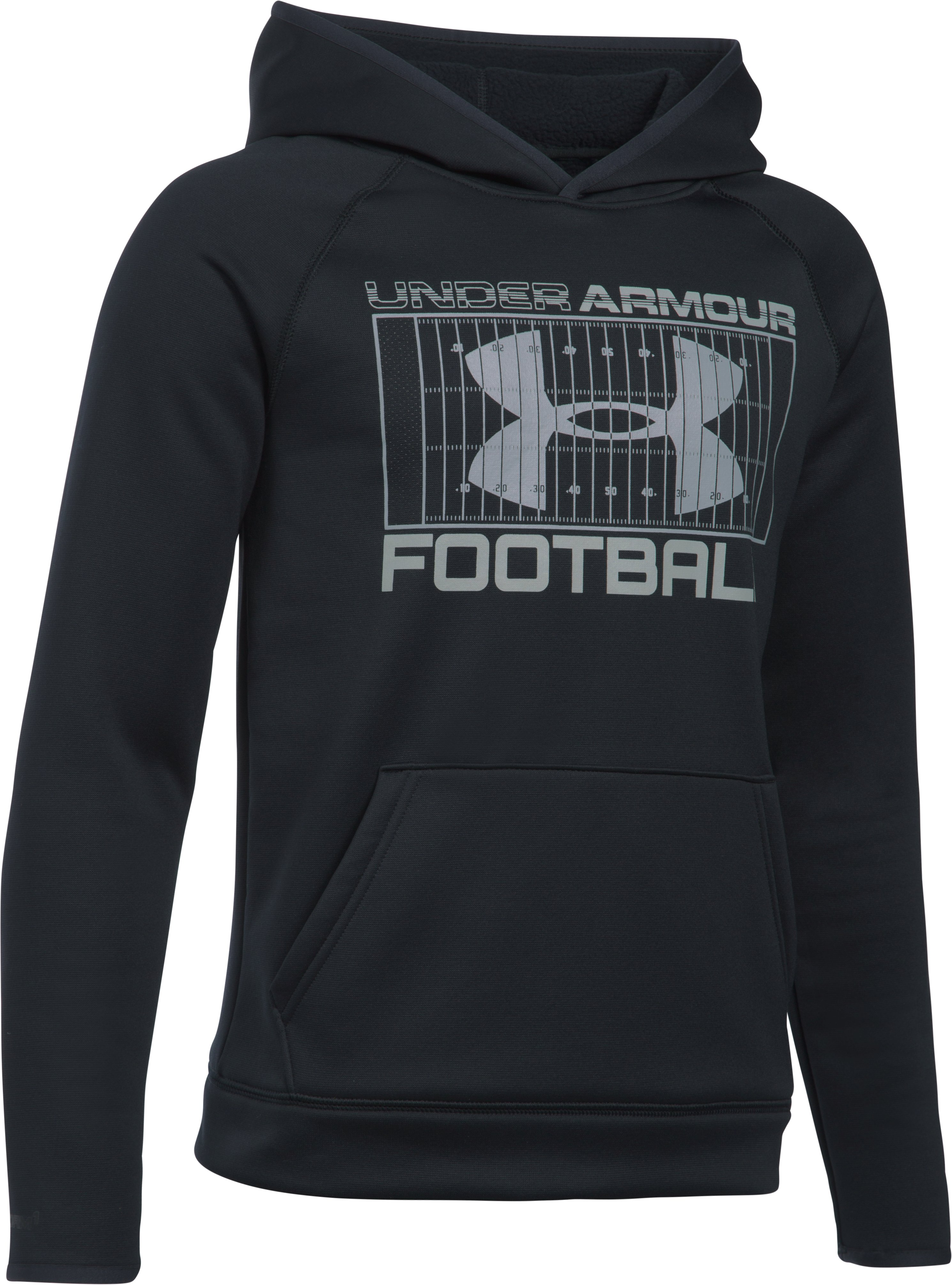 Boys' UA Storm Armour Fleece® Football Hoodie, Black