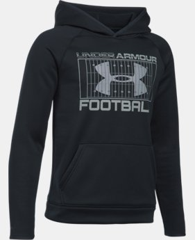 Boys' UA Storm Armour® Fleece Football Hoodie LIMITED TIME: FREE U.S. SHIPPING 1 Color $37.99