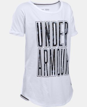 New Arrival  Girls' UA Dazzle Short Sleeve LIMITED TIME: FREE SHIPPING 2 Colors $34.99