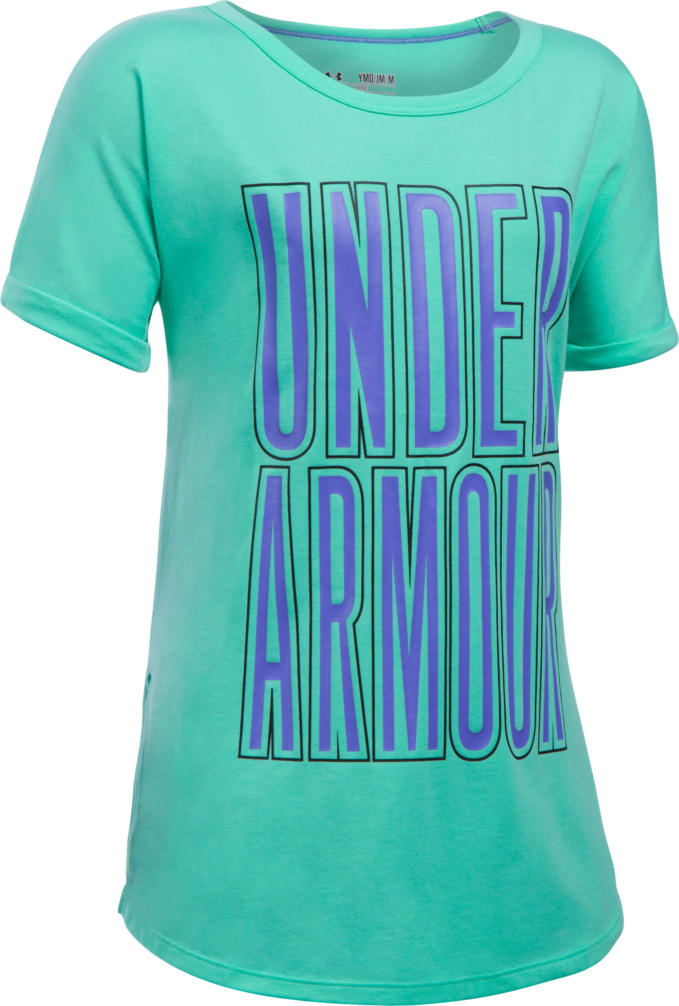 Girls' UA Dazzle Short Sleeve, REFLECTION,