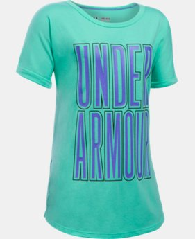 Girls' UA Dazzle Short Sleeve  2 Colors $22.99