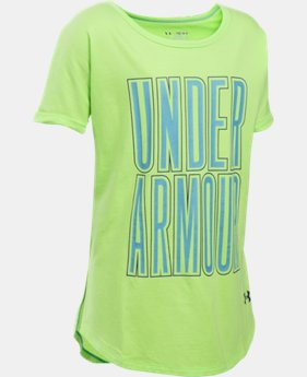Best Seller Girls' UA Dazzle Short Sleeve LIMITED TIME: FREE SHIPPING 1 Color $29.99