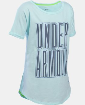 New Arrival  Girls' UA Dazzle Short Sleeve  1 Color $34.99