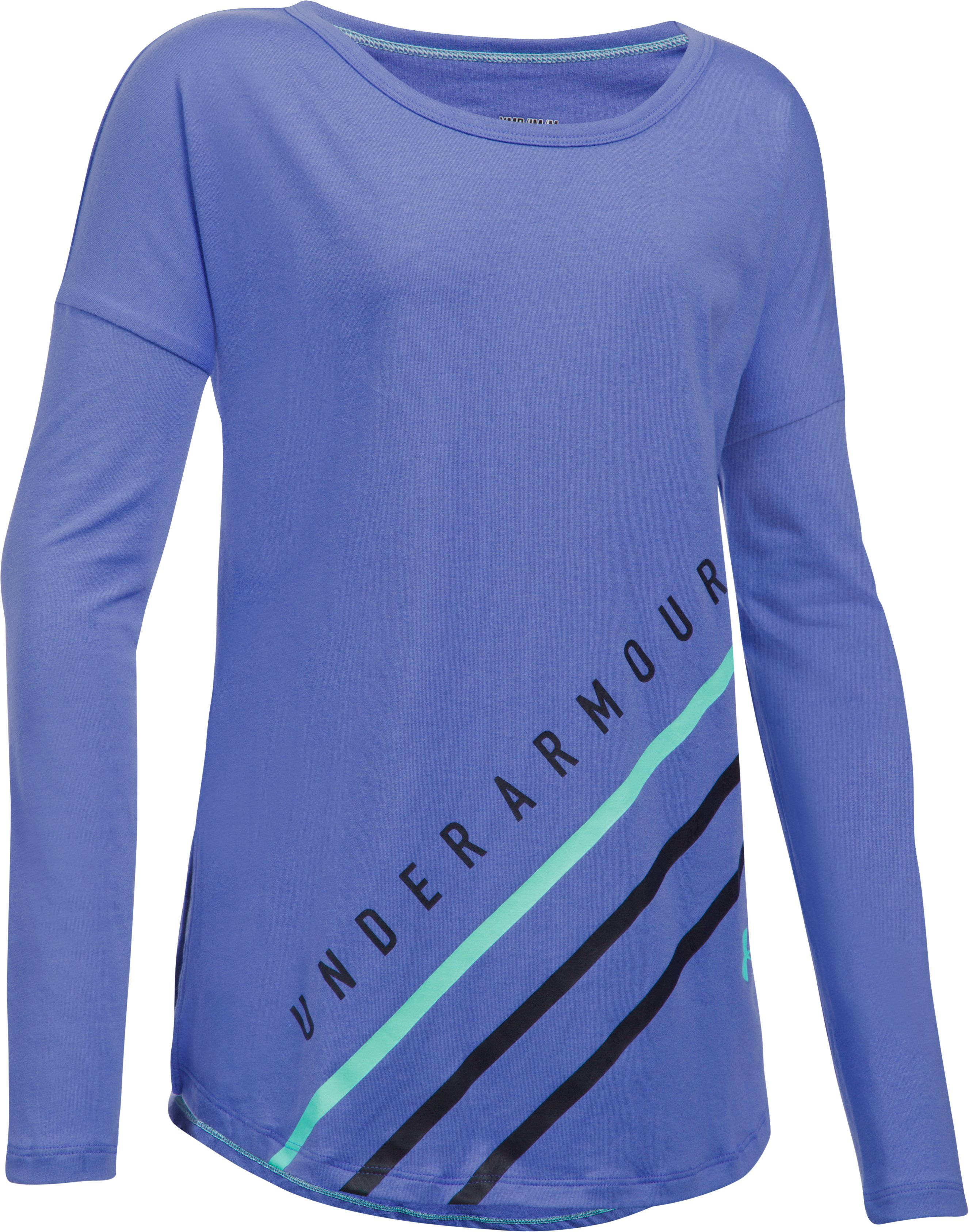 Girls' UA Dazzle Long Sleeve, VIOLET STORM, zoomed image