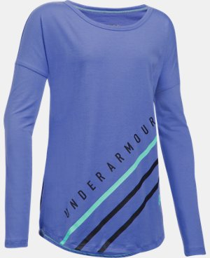 Girls' UA Dazzle Long Sleeve LIMITED TIME: FREE U.S. SHIPPING 1 Color $34.99