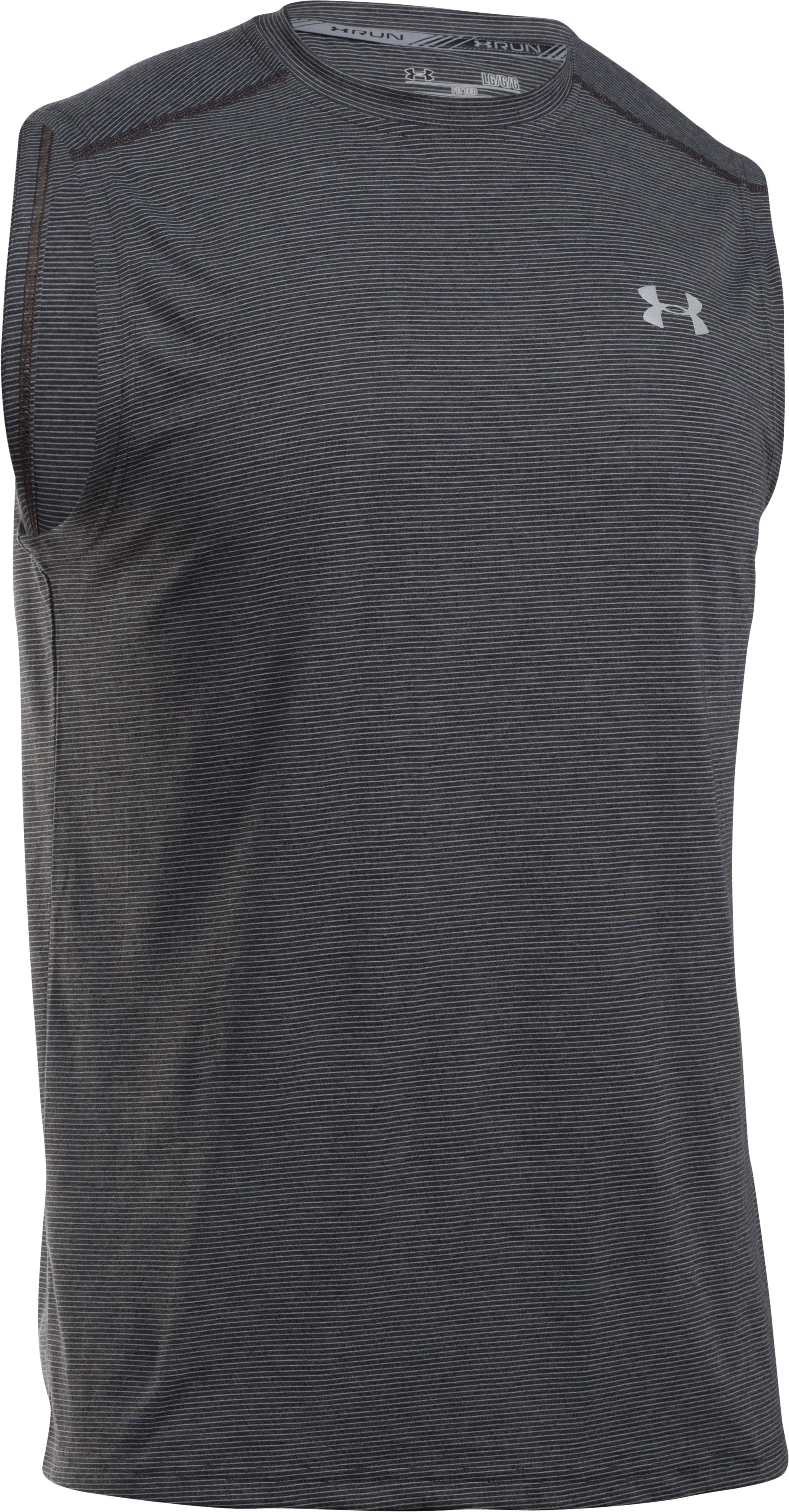 Men's UA Streaker Run Sleeveless, Carbon Heather