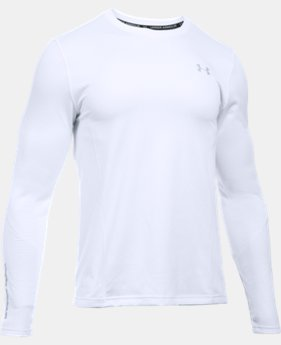 New Arrival  Men's UA ColdGear® Infrared Grid Long Sleeve Fitted Shirt  1 Color $74.99