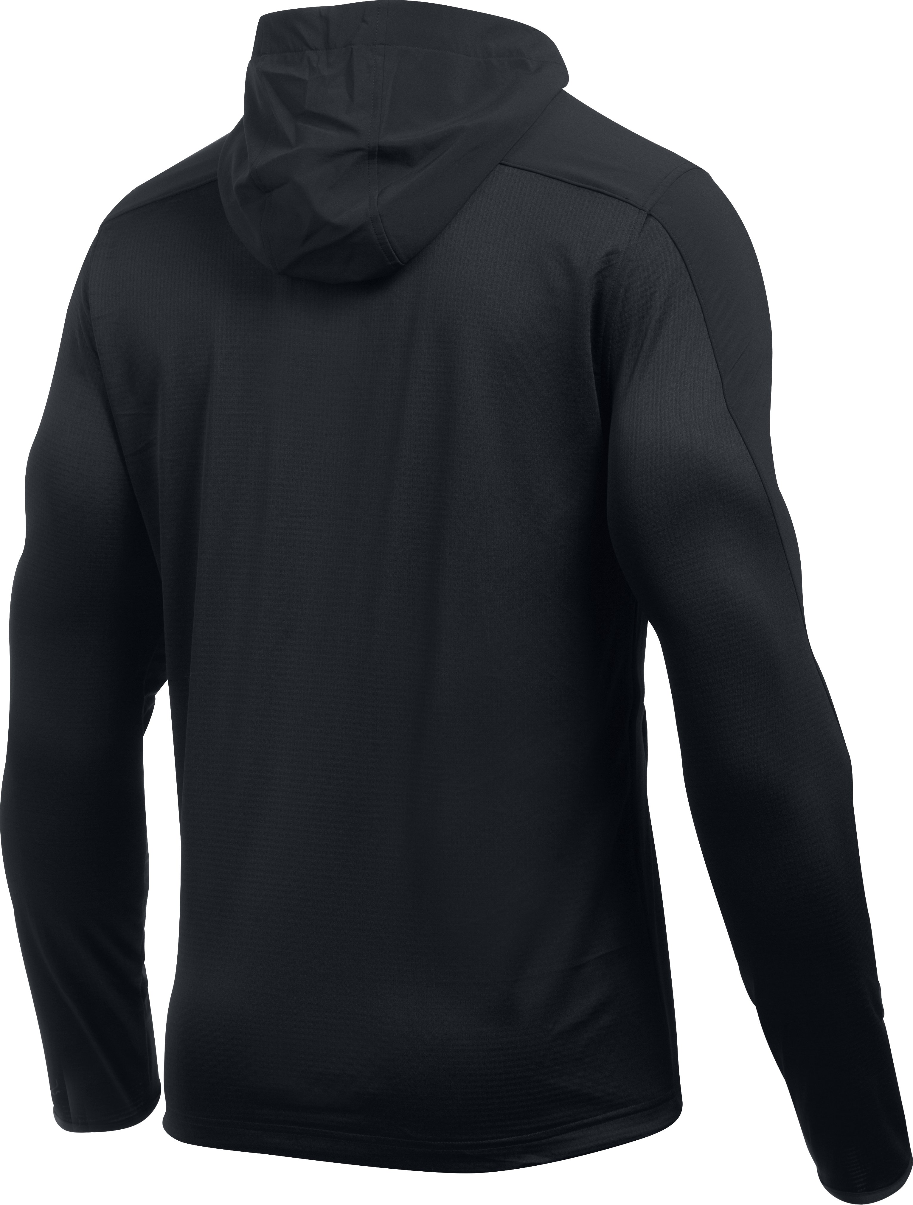 Men's UA ColdGear® Infrared Grid Fitted Hoodie, Black , undefined