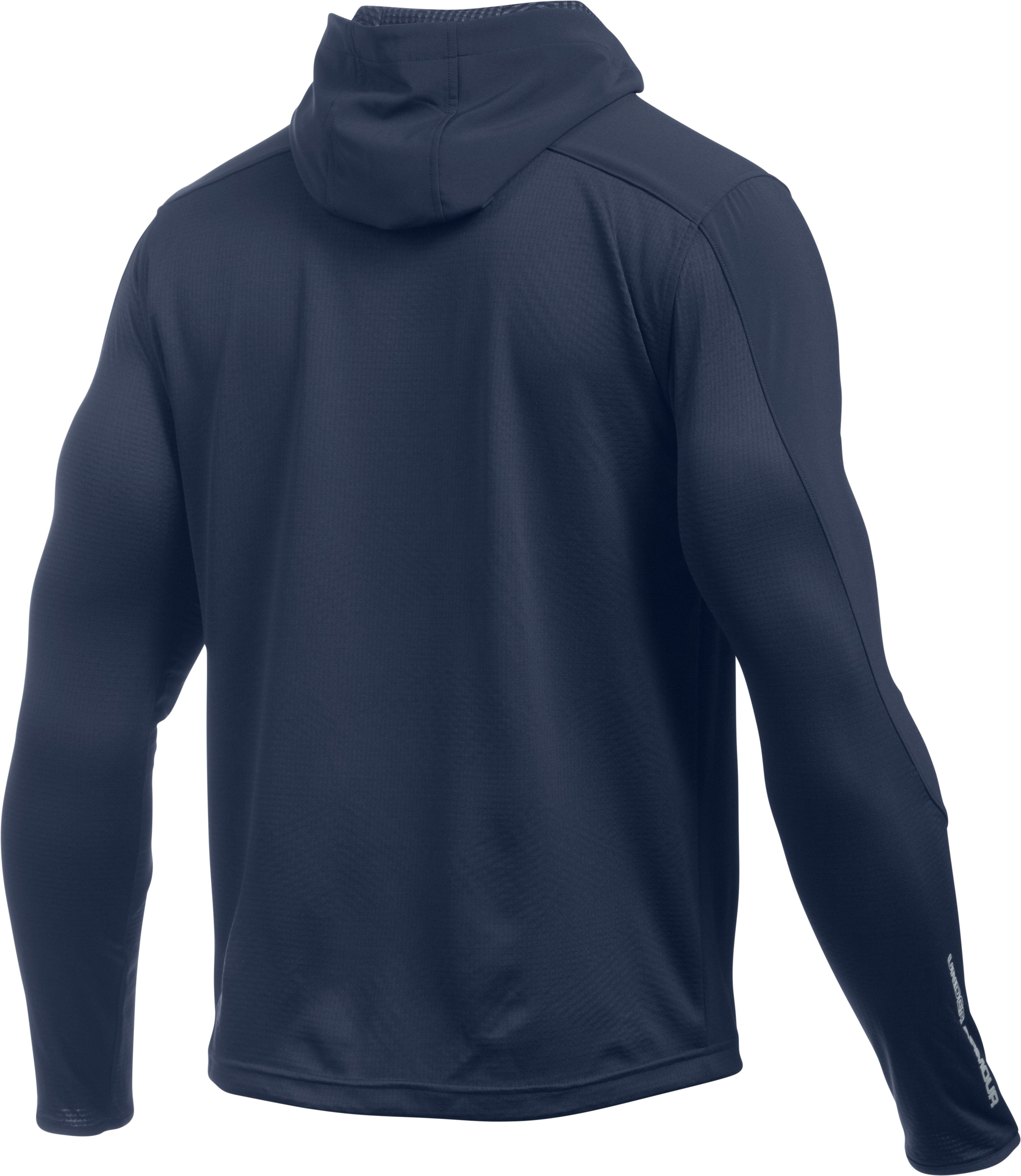 Men's UA ColdGear® Infrared Grid Fitted Hoodie, Midnight Navy