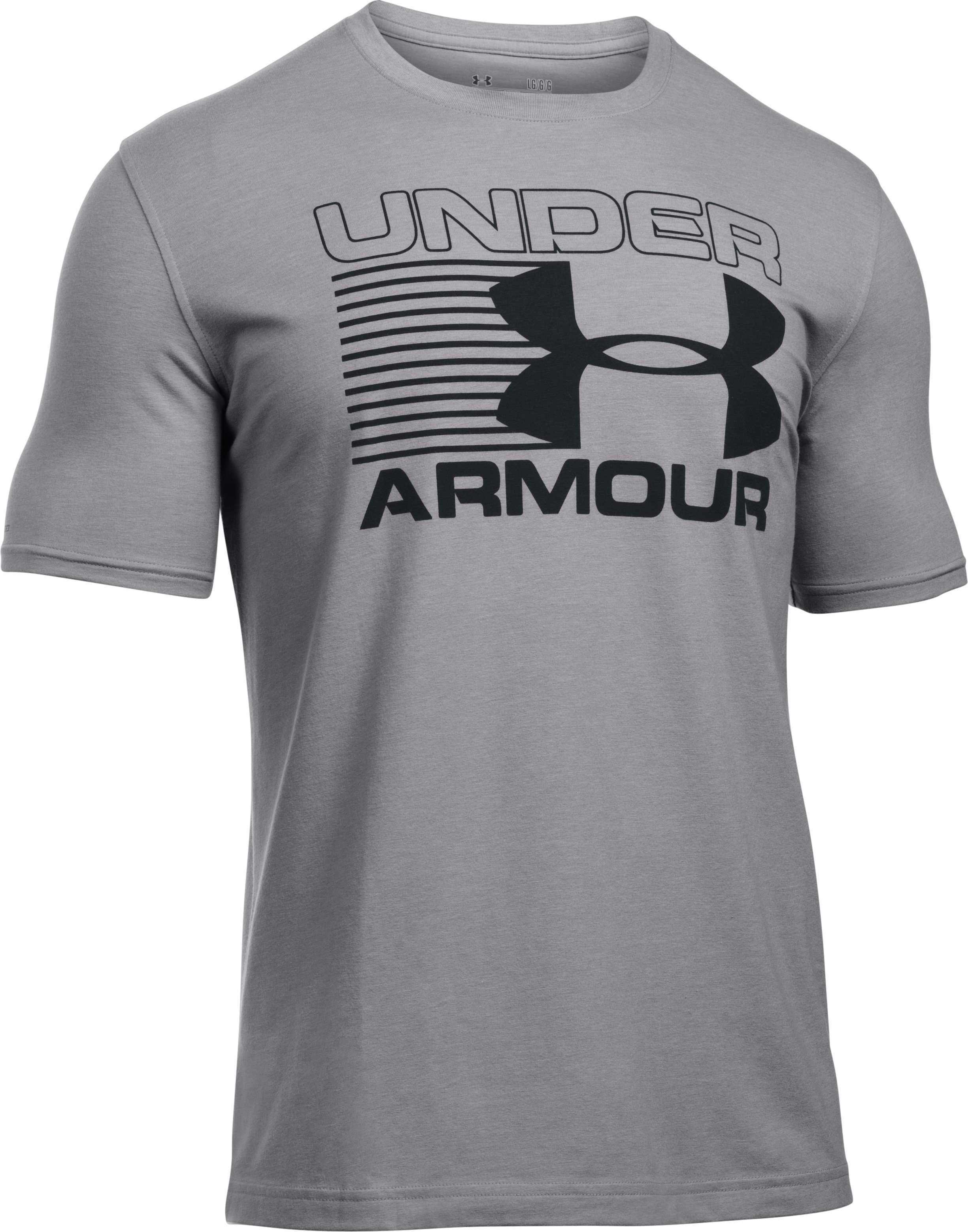 Men's UA Blitz Logo T-Shirt , True Gray Heather
