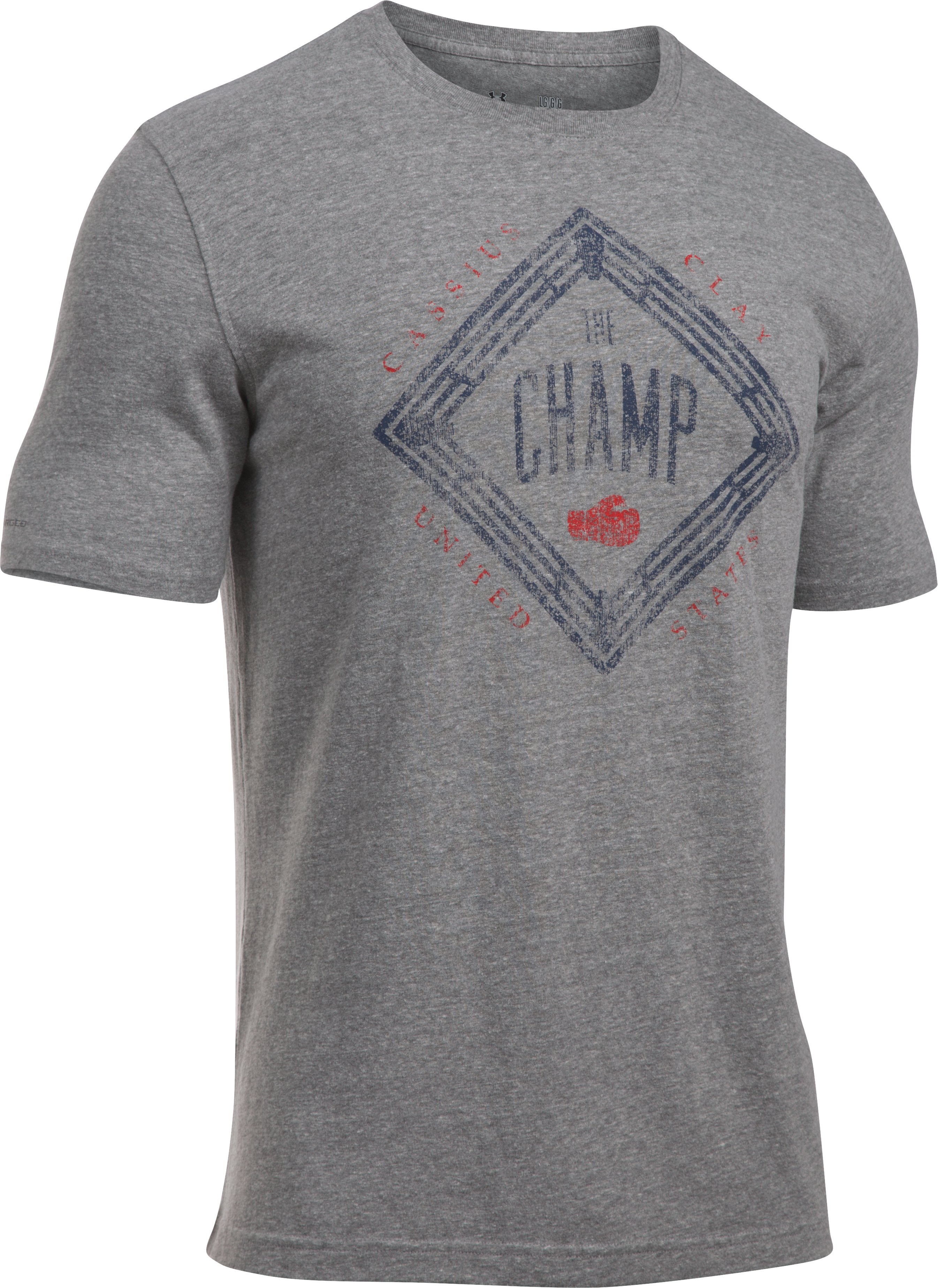 Men's UA x Muhammad Ali Cassius The Champ T-Shirt, GREYHOUND HEATHER,