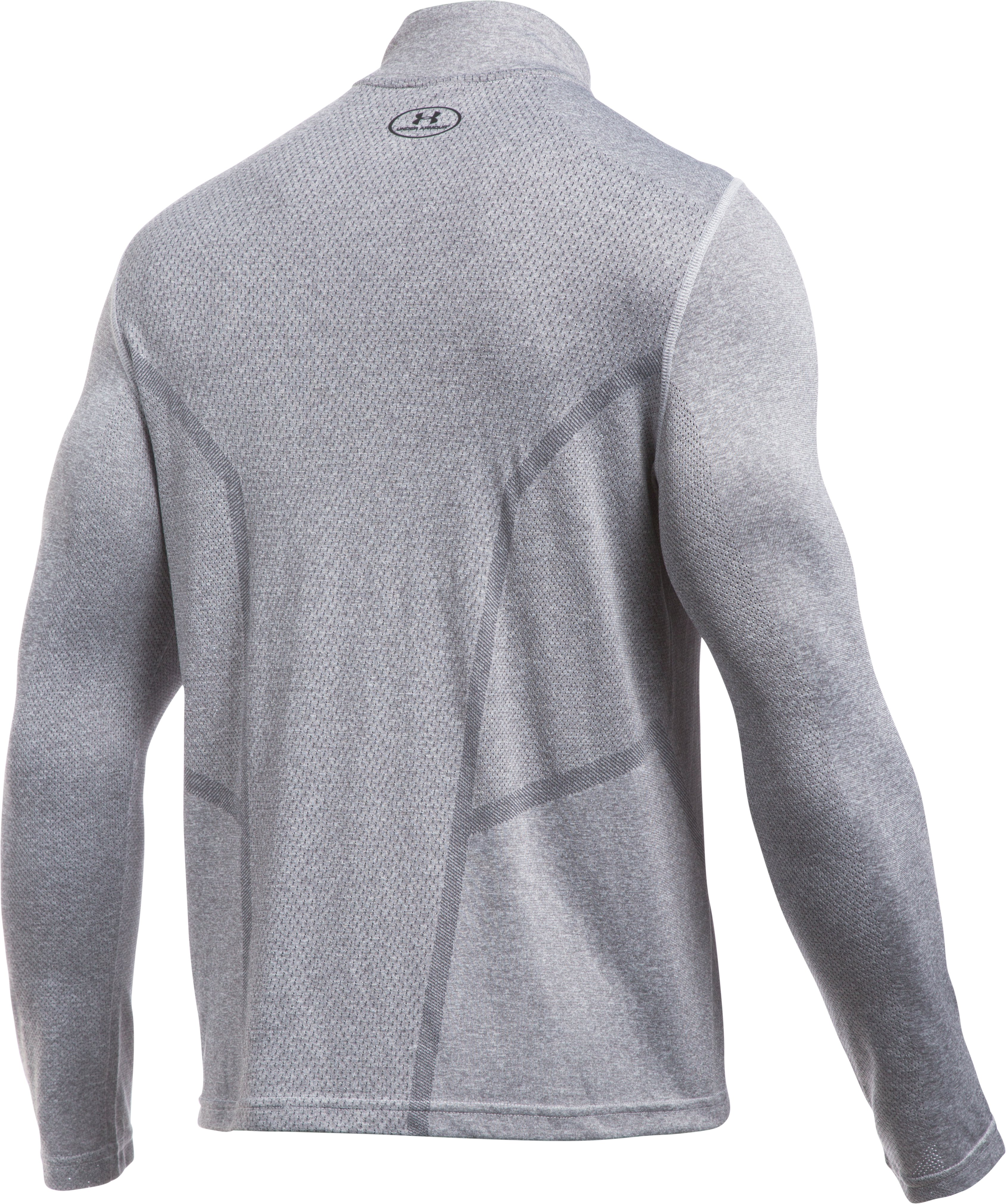 Men's UA Elevated Training ¼ Zip, AIR FORCE GRAY HEATHER,