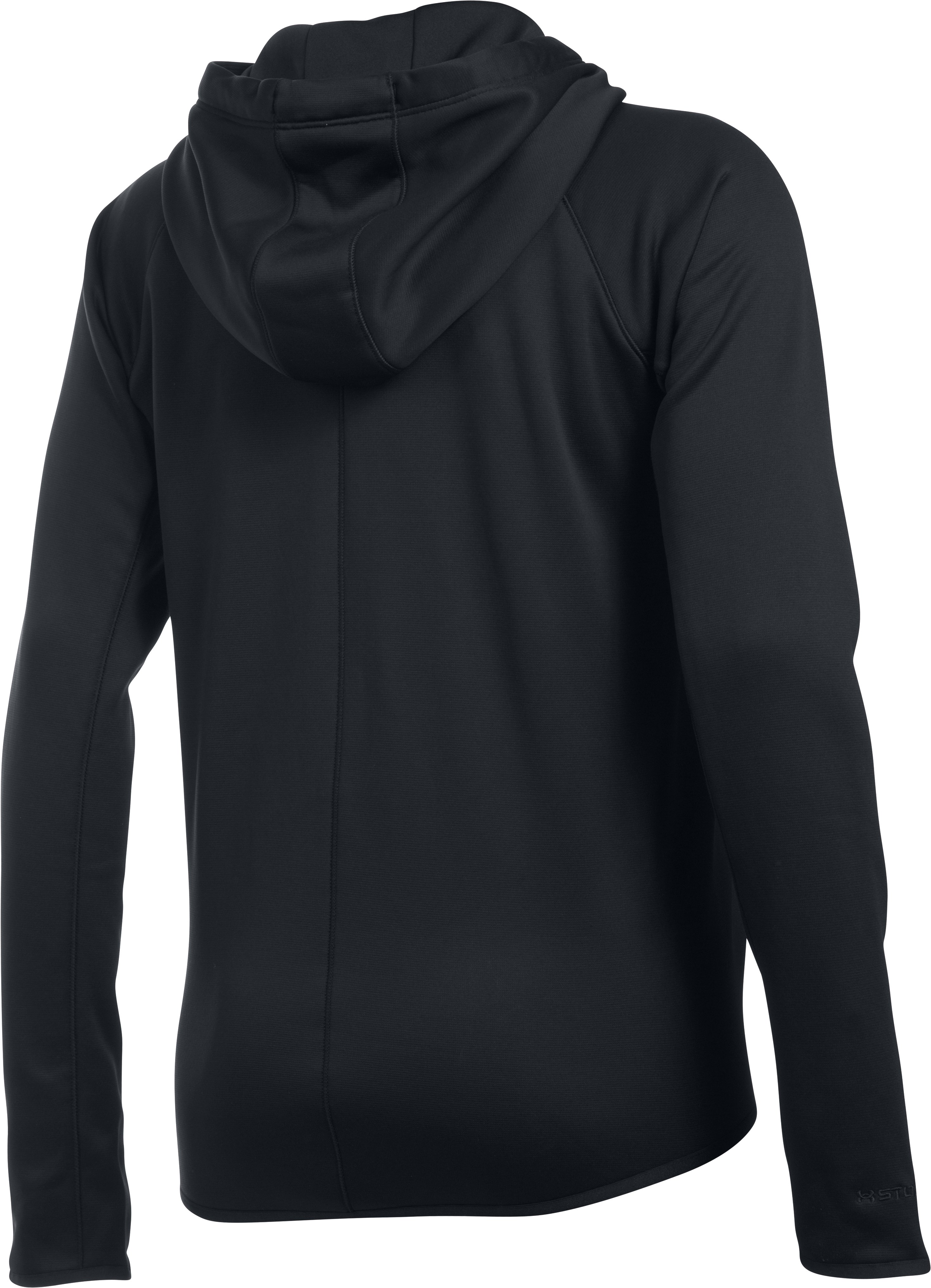 Women's  UA Storm Armour Fleece® Lightweight Full Zip Hoodie, Black ,